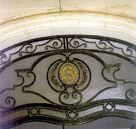 initials of Omar Sirry at entrance of No. 10 Tolombat