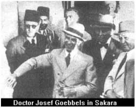 Dr. Goebbles in sakkara