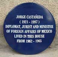 Blue Plaque Castaneda