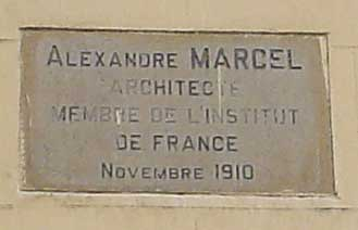 plaque for Alexandre Marcel