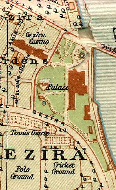 Map of palace circa 1919