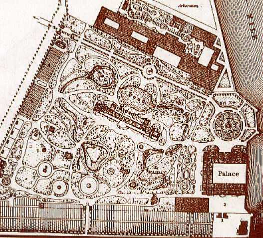 map of Gezirah Palace circa 1870s